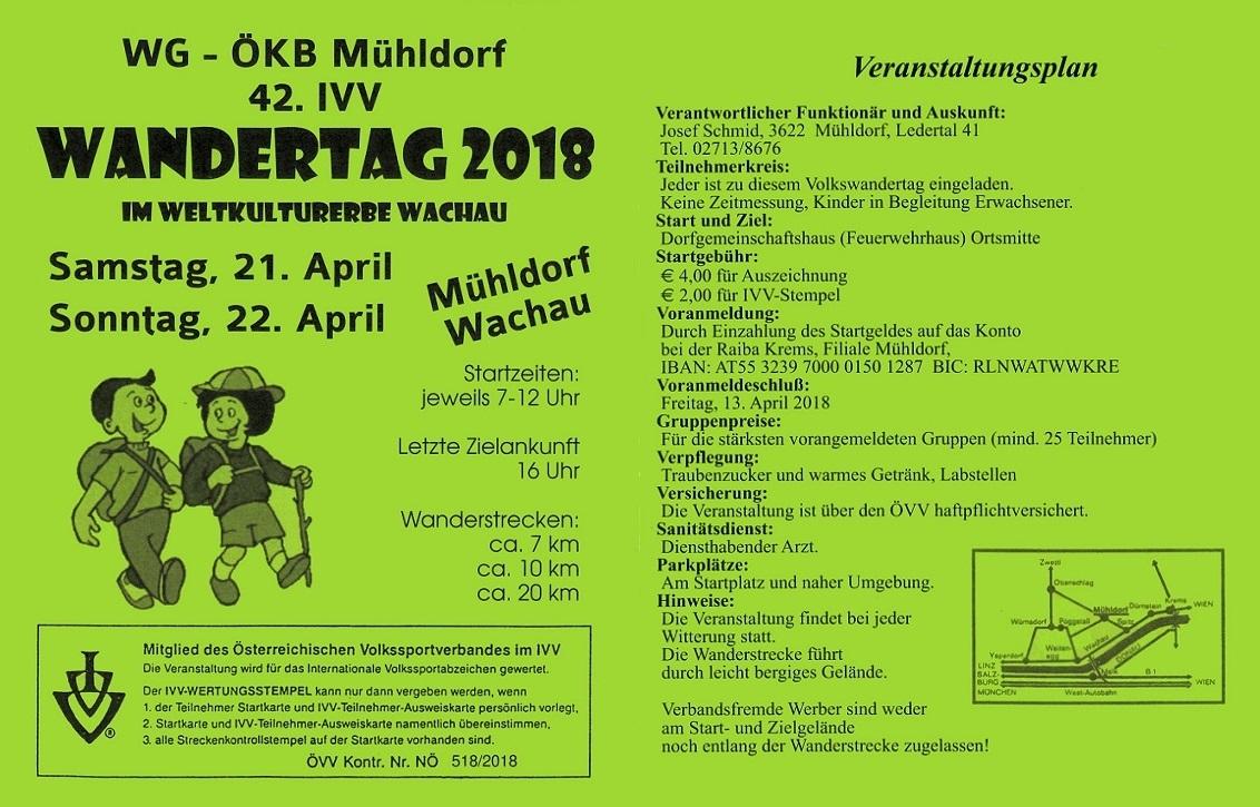 Wandern Teilnahme Am Ivv Mühldorf Sportunion St Andrä Wördern